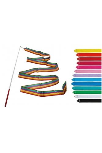Ribbon for rhythmic gymnastics wih stick