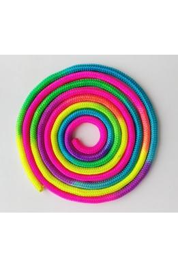 Nylon rope for rhythmic gymnastics rainbow