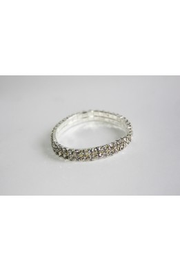 Bracelet with rhinestones (2 rows)