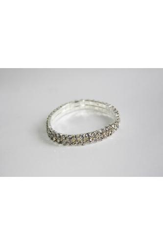 Bracelet with rhinestones (2 rows)