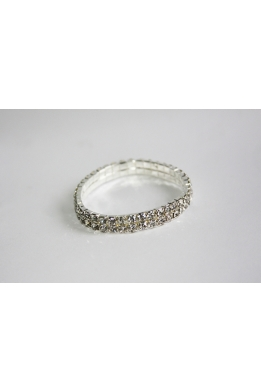 Bracelet with rhinestones (4 rows)