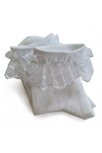 Носки белые с рюшем