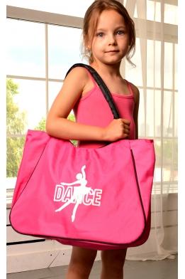 Сумка для танцев ярко-розовая