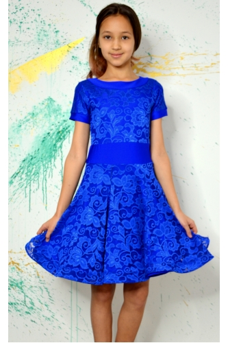 Juvenile dance dress blue
