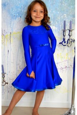 Juvenile dance dress royal blue