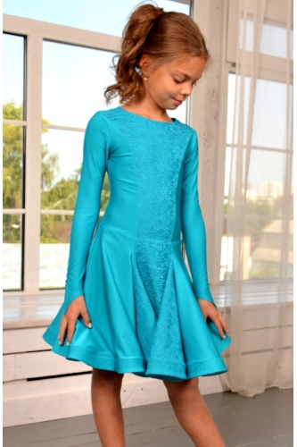 Juvenile dance dress sea wave