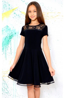 Latin dress with lace black