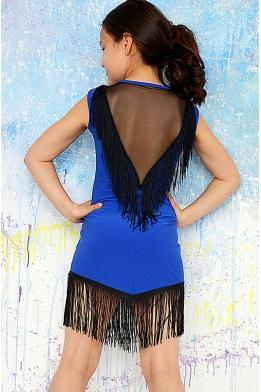 Платье для танцев синее