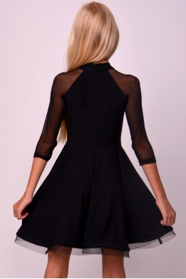 Dance dress with mesh sleeves
