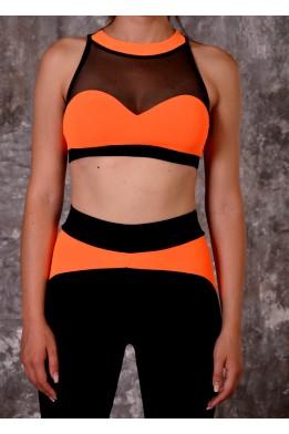 Snake bra black/orange