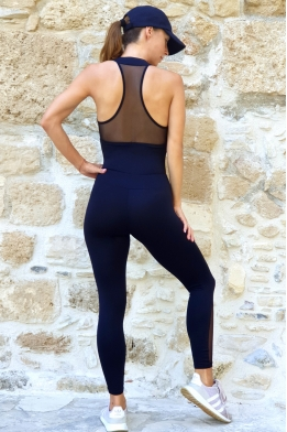 Jumpsuit with net