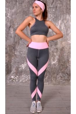 Butterfly leggings grey/lt.pink