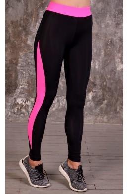 Flamingo leggings black/pink