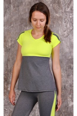 Swallow top grey/lime