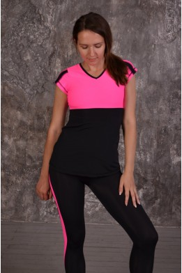 Swallow top black/pink