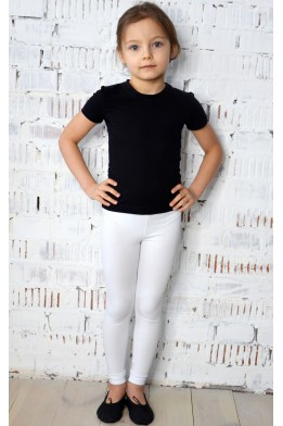 Leggings for dance and gymnastics white