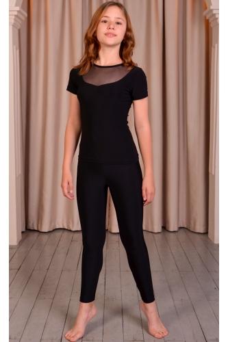 Leggings for dance and gymnastics black