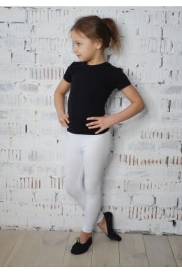 Лосины тренировочные для танцев и гимнастики белые
