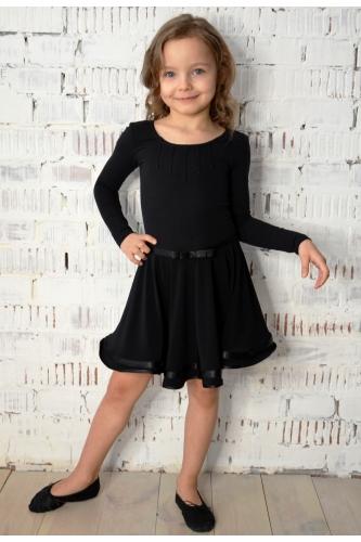 Leotard dress for dance and ballet black