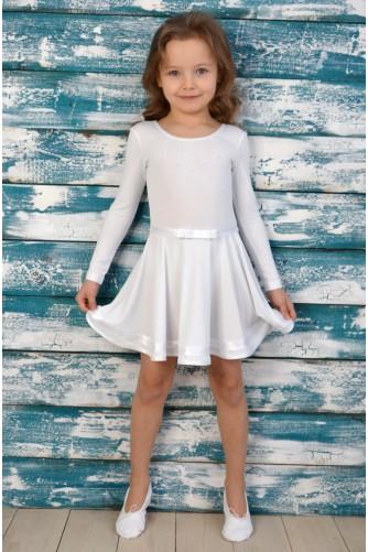 Купальник-платье для танцев белый
