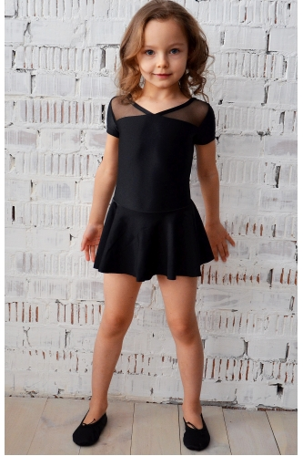 Leotard with short skirt for dance and gymnastics