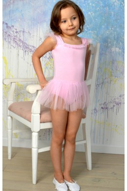"Leotard with tulle skirt and little ""wings"" light pink"