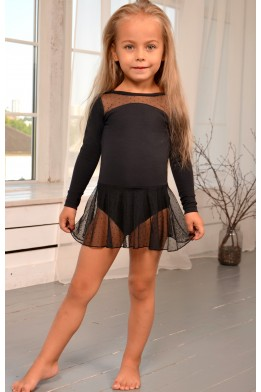 Dance leotard with dotted skirt