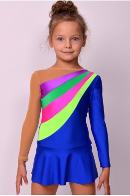 Lycra gymnastics leotard, bright blue
