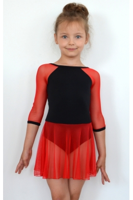 Leotard with skirt red
