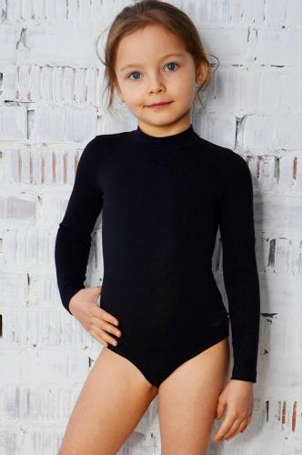 Leotard for dance and gymnastics black