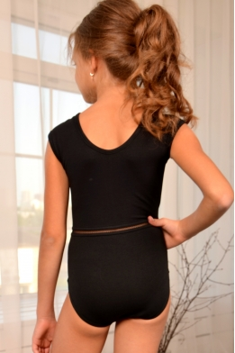 Leotard for dance and gymnastics with lace detail