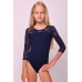 Leotard for dance and gymnastics with lace details