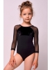 Leotard for dancing with velvet black