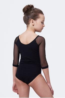 Купальник для танцев с бархатом черный