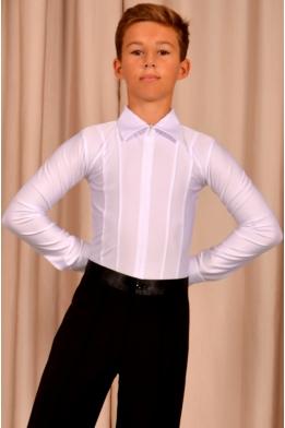 Рубашка для танцев на молнии, белая (комбидресс)