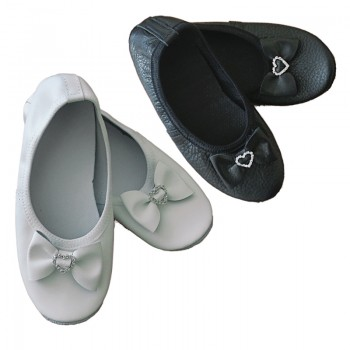 Soft ballet and gymnastic shoes