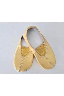 Чешки кожаные классические золото