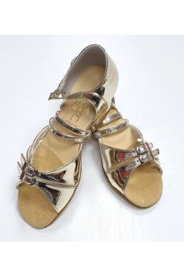 Танцевальные туфли для девочек (зеркальное золото)