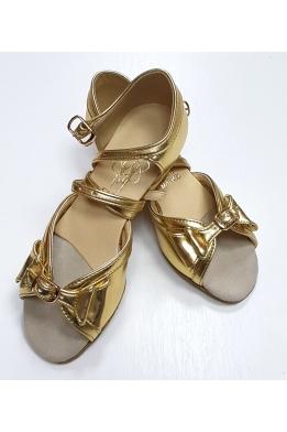 Танцевальные туфли для девочек (золото)