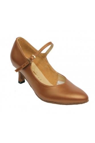 Женские танцевальные туфли для стандарта (бежевая кожа)