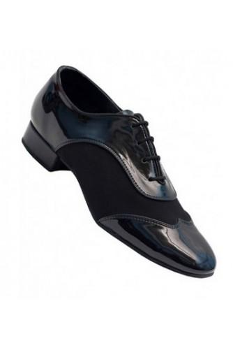 Туфли мужские Стандарт (черная лаковая кожа + замша)