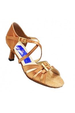 Latina  women dance shoes (beige satin)