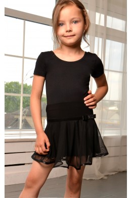 Dance skirt with net black