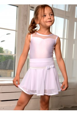 Dance skirt with net white