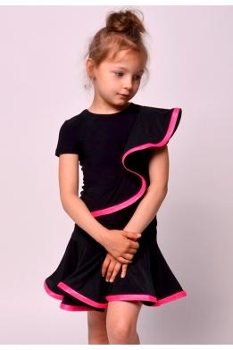 Юбка танцевальная c ярко-розовым регилином
