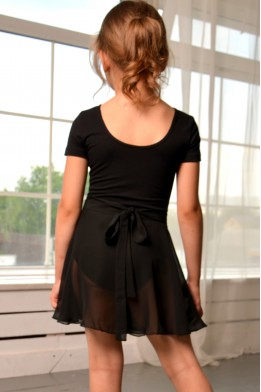 Wrap over skirt black