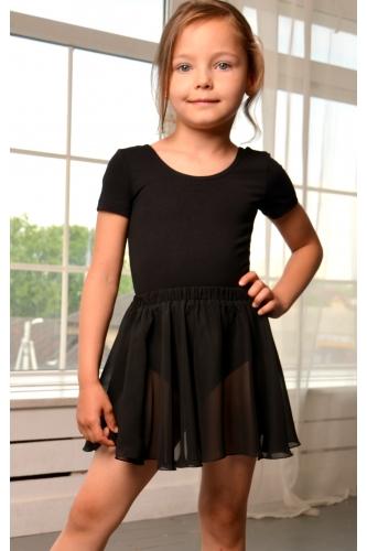 Chiffon skirt black
