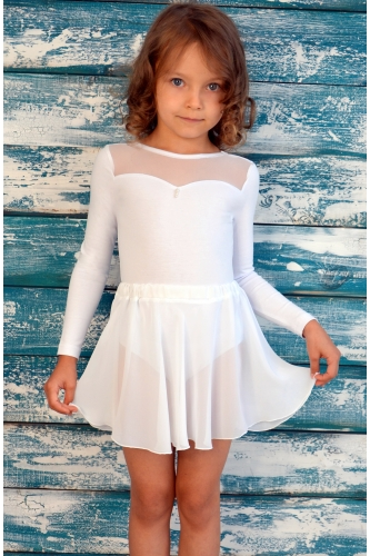 Chiffon skirt white