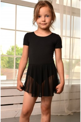 Dance skirt in stretch net black
