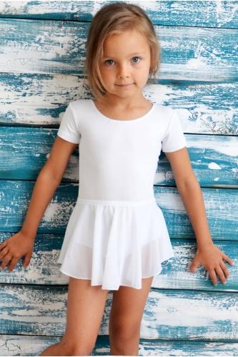 Dance skirt in stretch net white